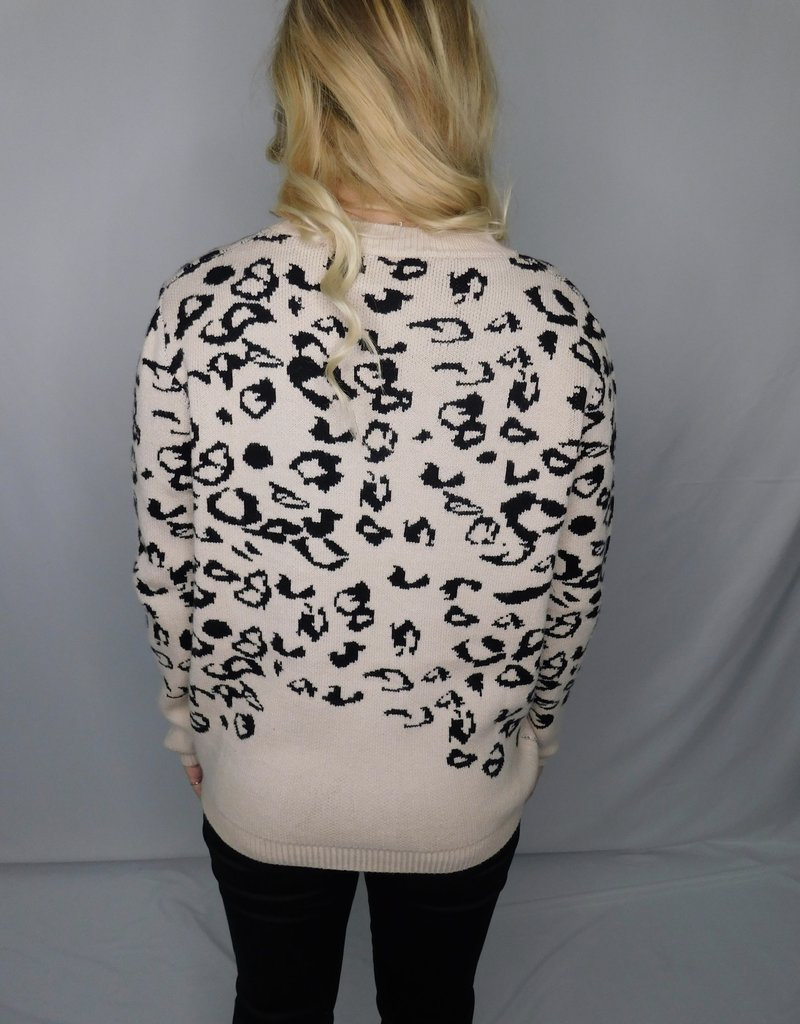 LUXE Never Had A Chance  Cheetah Sweater