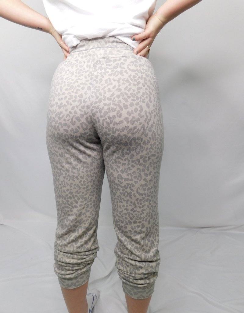 LUXE Your Biggest Fan Cheetah Jogger
