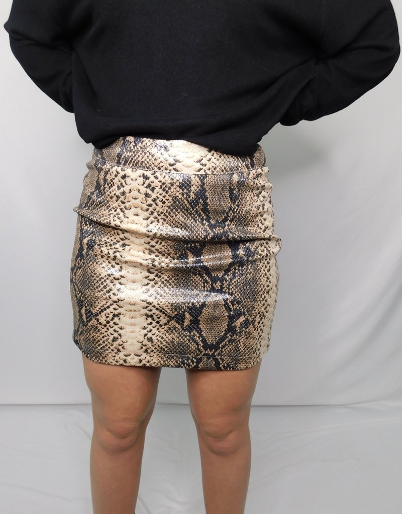 LUXE Because I Found You Snakeskin Skirt