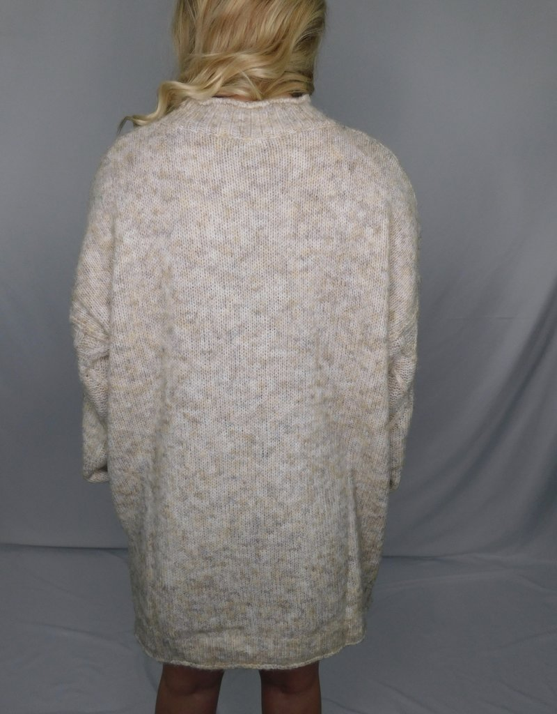 LUXE All My Heart Is Yours Oatmeal Sweater