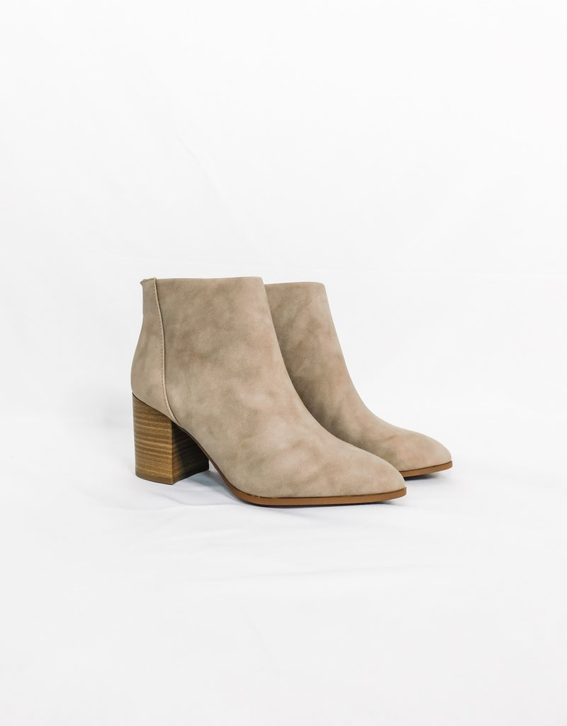 LUXE Meet You Taupe Bootie