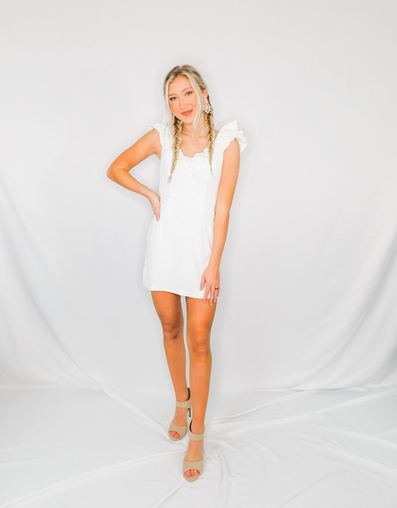 LUXE A Good Time For Love White Dress