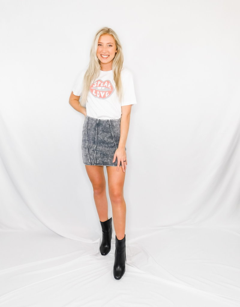 LUXE Whatever You Want Washed Woven Skirt