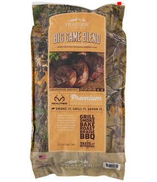 Traeger Wood Fire Grill Realtree Big Game Blend Wood Pellets