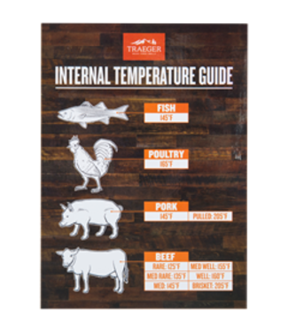 Traeger Wood Fire Grill INTERNAL TEMPERATURE GUIDE GRILL MAGNET