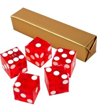 Red Dice Set 19 mm A Grade Serialized Casino