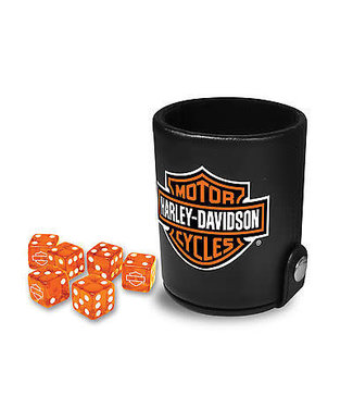 HARLEY DAVIDSON HARLEY DAVIDSON BAR & SHIELD DOUBLE DICE CUP with 6 Dice