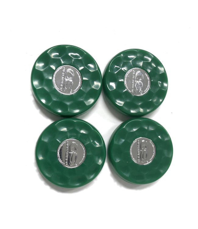 Olhausen Green Olhausen shuffleboard set of 4 screw on caps for pucks