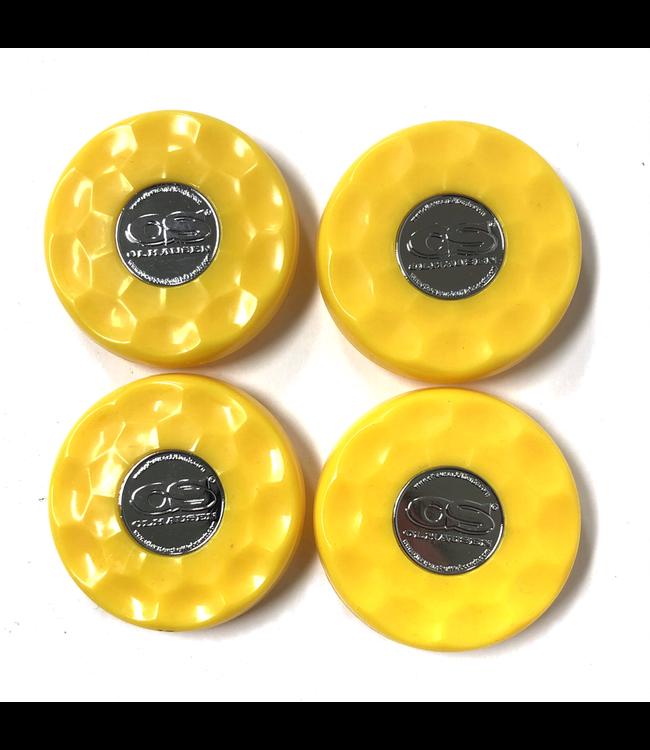 Olhausen Yellow Olhausen shuffleboard set of 4 screw on caps for pucks