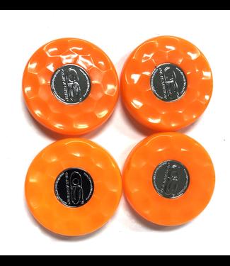 Olhausen Orange Olhausen shuffleboard set of 4 screw on caps for pucks