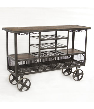 HOME TRENDS FIT-BCT60 IRON BAR TROLLEY