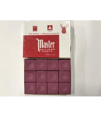 Master Master Chalk Burgundy Box of 12