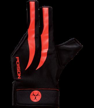 Poison Poison S/M Red Black Glove
