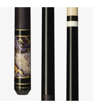 Players C948 GREY 18 ounce PLAYERS STONE & GOLD CUE STICK