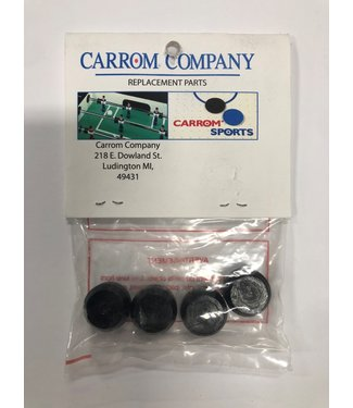 "Carrom Carrom 1/2"" Black Super Stick Bubble Hockey Replacement Pucks"