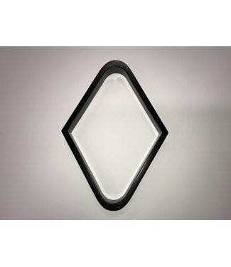 9 Ball Wooden Rack Diamond - Black