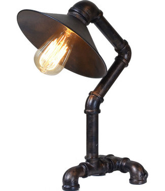 HOME TRENDS GLM-TL11AV INDUSTRIAL PIPE TABLE LAMP ANT VINT