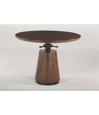 HOME TRENDS Industrial ROUND ADJUSTING TABLE