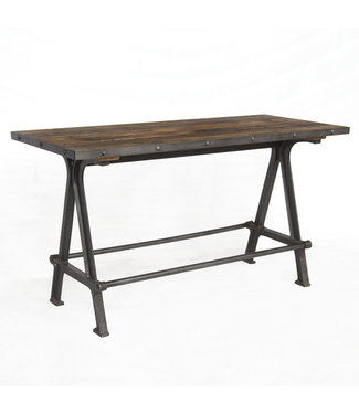 HOME TRENDS FIT-GT66 IRON GATHERING TABLE 66 INCH