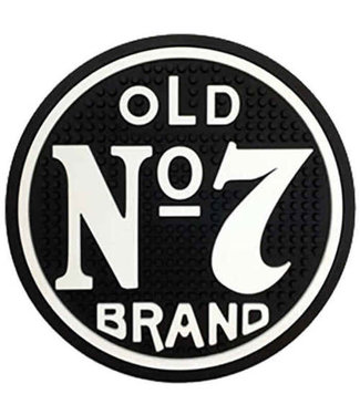 JD Old No 7 Bar Mat (round) Jack Daniels
