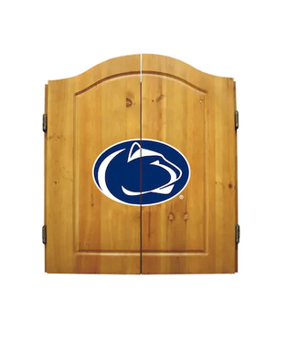 Penn State Dart Dartboard & Cabinet Set