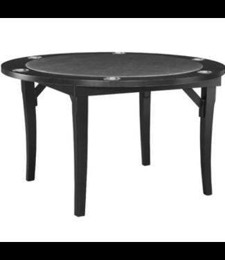 "48"" Folding Game Card Poker Table Black"