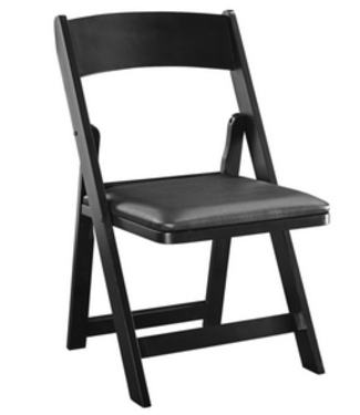 FOLDING GAME CHAIR GCHR4 Black Wooden