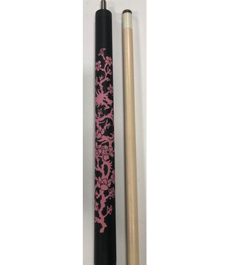 Players Players D-LCH Black w/Etched Pink Dragon/Flower Pool/Billiards Cue Stick