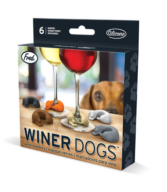 """Winer Dogs"" Dog Wine Markers - 6pc"