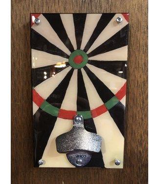 Dart Board Wall Mounted Bottle Opener