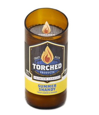 Torched Summer Shandy Beer Bottle Candle 8oz