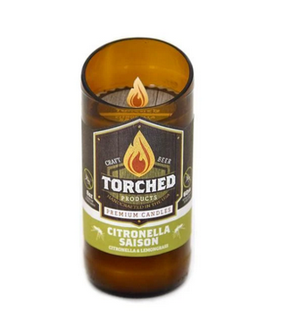 Torched Citronella Saison Beer Bottle Candle 8oz