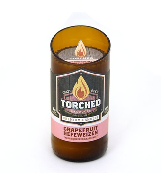 Torched Grapefruit Hefeweizen Beer Bottle Candle 8oz