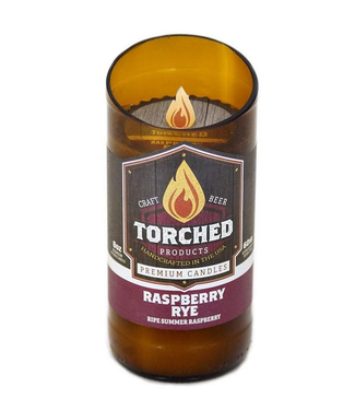 Torched Raspberry Rye Beer Bottle Candle 8oz