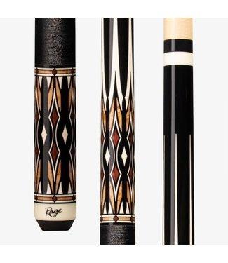 RAGE RG216 Masked Daggers, Black & Black, Cocobolo & Black Pressed Nylon Wrap CUE STICK