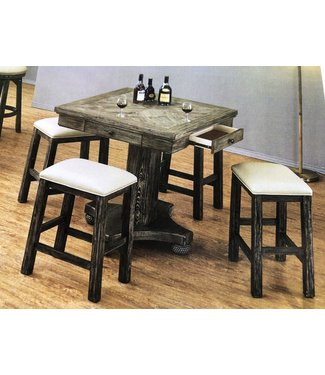 "ECI PGA Square PUB Game Table Top with 42"" Base 0921-95-FGT / 0921-95-PB42"