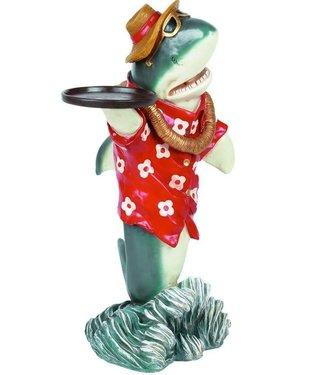 Mini Shark Waiter Statue w/ Tray
