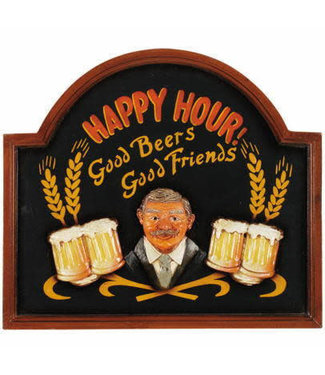 Happy Hour Sign R427 Wall Art