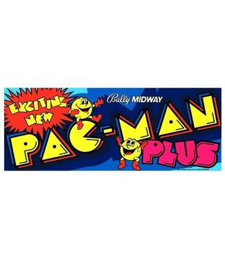 Original Arcade Marquee for Pac-Man Plus 23x9x1/4