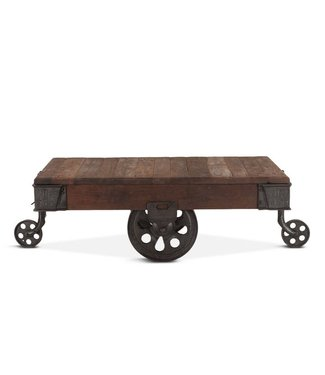 "HOME TRENDS Home Trends & Design Industrial Teak 50"" Reclaimed Wood Coffee Table"