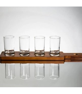 ACOPA Two Sided Flight Paddle with Tasting Glasses (4)