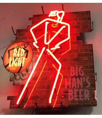 Red Lite Big Man's Beer Neon Sign