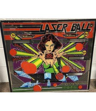 Laser Ball Pinball Back Glass