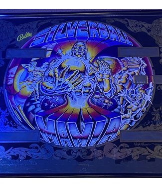 Silver Ball Mania Pinball Back Glass