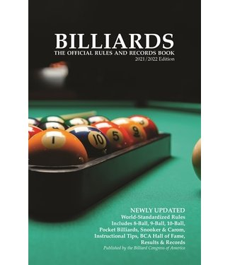 Billiards Official Rules and Records Book 2021/2022