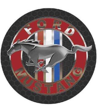 MS404 Circle Ford Mustang Tin