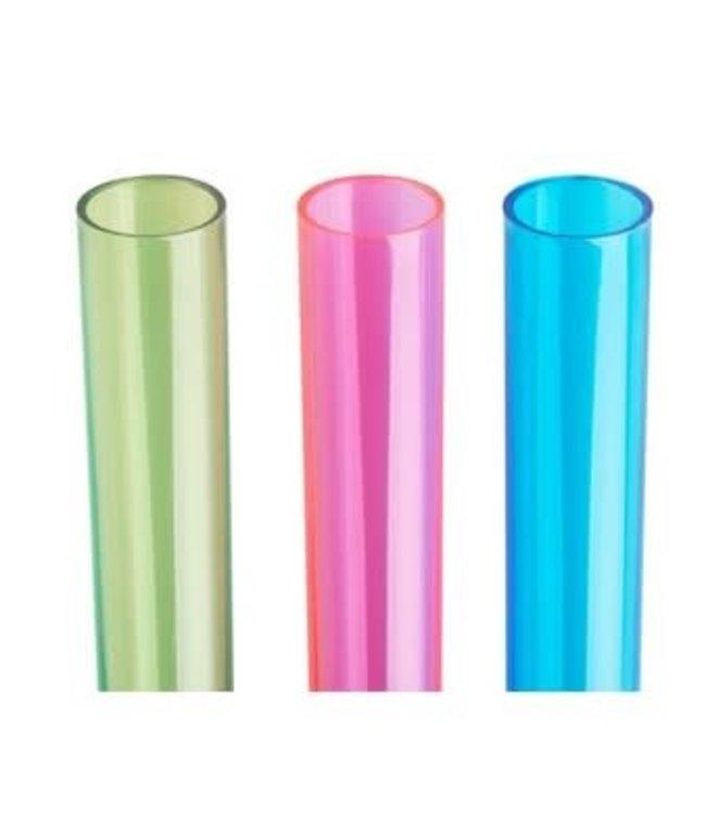 Tri Color Plastic Test Tube Shot Glasses Set 24 pc