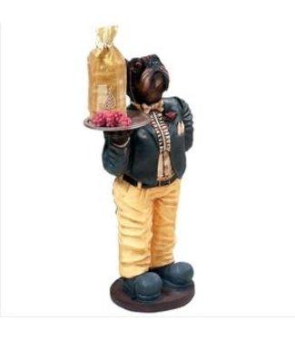 Dog Waiter indoor Statue R155