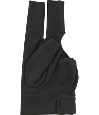 Action Action Deluxe BGRDLX Billiard Glove- Bridge Hand Right -  Black Extra Large