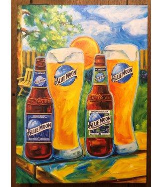 "Blue Moon ""Spring"" Canvas 14x19x2"